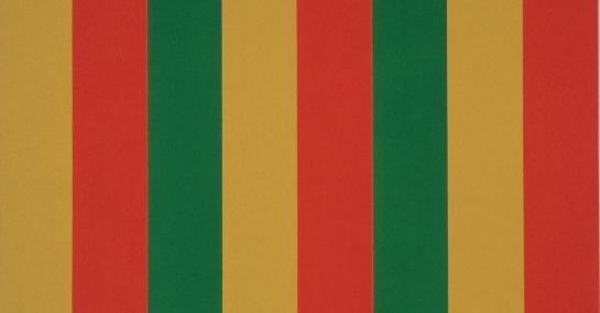 Mutation vert-rouge, 1964, acrylique sur toile, 200,5 cm x 244, Fondation Guido Molinari, © SODRAC Photo : Guy L'Heureux.