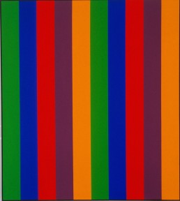 Guido Molinari, 1967, Bi sériel orange-vert, 228 x 203 cm, Fondation Guido Molinari