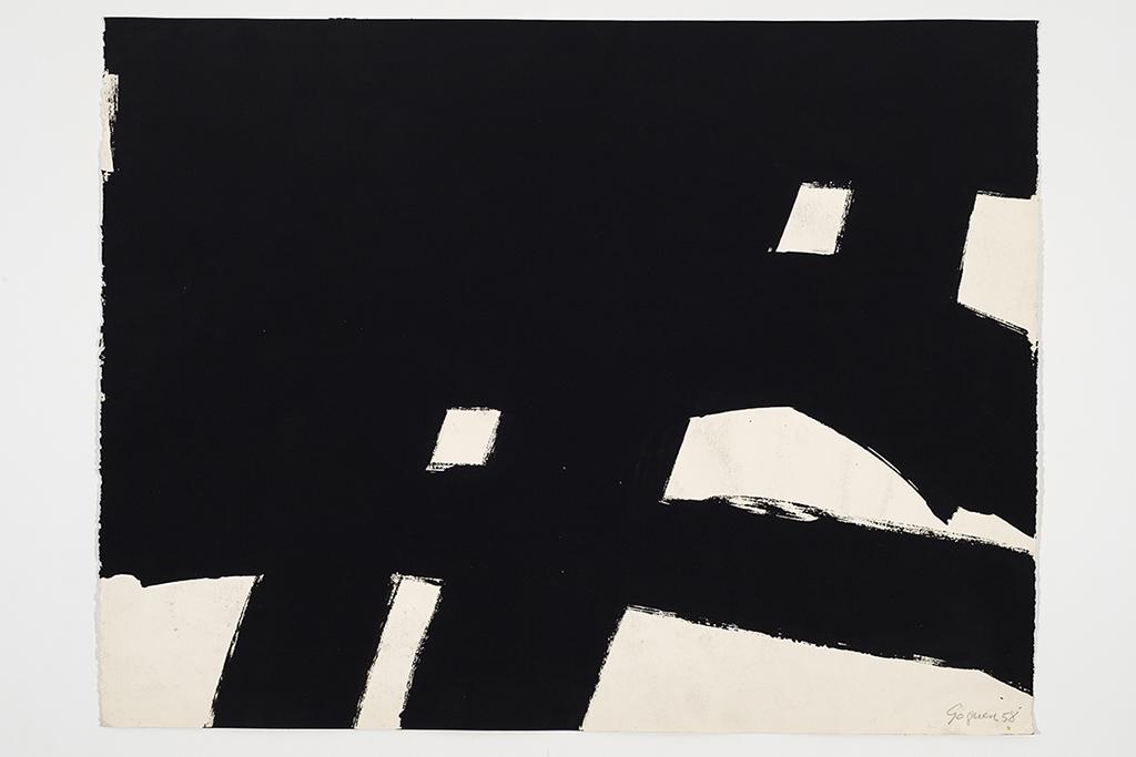 Jean Goguen, Sans titre, 1958, 66 x 101 cm