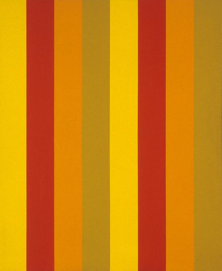 Mutation jaune-ocre, 1964, acrylic on canvas, 244 x 201 cm.Guy L'Heureux