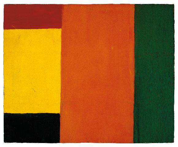 Guido Molinari, Sans titre, 1955, huile sur toile, 54,5 cm x 67, coll. Fondation Guido Molinari,© SODRAC Photo : Guy L'Heureux