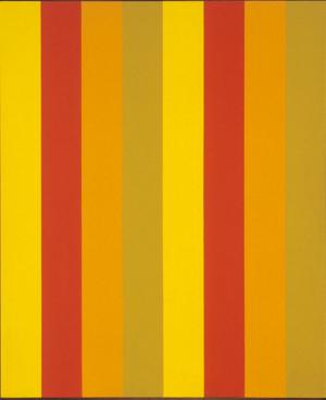 Mutation jaune ocre, 1964, acrylique sur toile, Photo Guiy l'Heureux