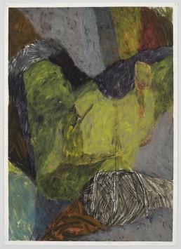 Marc Garneau, 1984, Un rêve, acrylique et crayon conté sur papier, 105x 75,5 cm - Photographie Guy L'Heureux