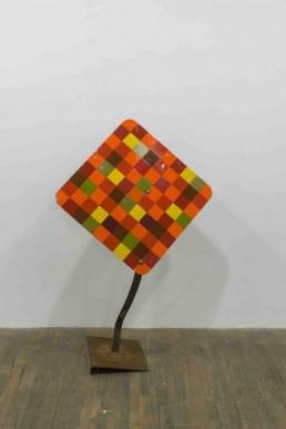 Maclean, 2015, Prière no 1, matériaux mixtes, 129 x 180, 35,5 cm