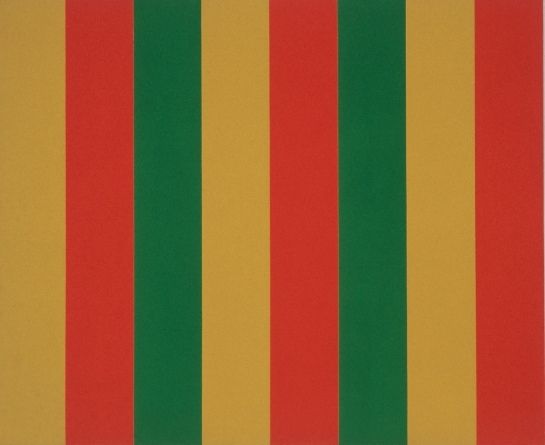 Mutation vert-rouge, 1964, acrylic on canvas, 200,5 cm x 244, Fondation Guido Molinari, © SODRAC Photo : Guy L'Heureux.