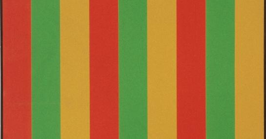 Mutation tri-sérielle rouge, 1964-1965, acrylique sur toile, 228,5 cm x 205,8, coll. Fondation Guido Molinari, © SODRAC Photo : Guy L'Heureux