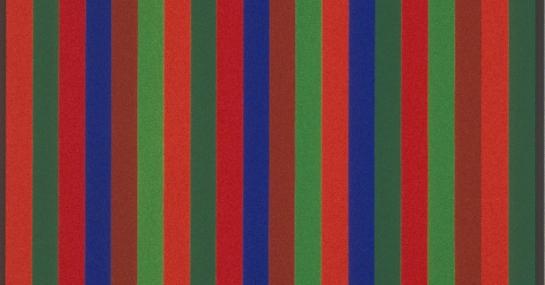 Bi-sériel Brun-Violet, 1966, acrylique sur toile, 173,3 cm x 102, coll. Fondation Guido Molinari, © SODRAC Photo : Guy L'Heureux