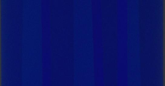 Sans titre (quantificateur bleu), 1992, acrylique sur toile, 157 cm x 117, coll. Fondation Guido Molinari, © SODRAC Photo : Guy L'Heureux