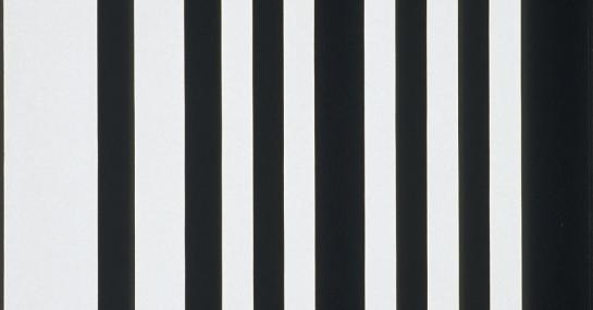 Verticales noir-blanc, 1960, acrylique sur toile, 121 cm x 119,5, Fondation Guido Molinari, © SODRAC Photo : Guy L'Heureux.