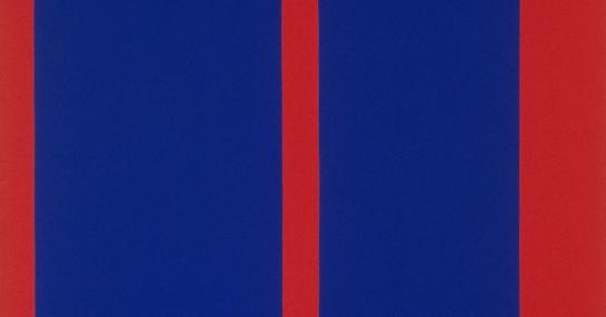 Espace bleu # 1, 1962, acrylique sur toile, 152,7 cm x 127, Fondation Guido Molinari, © SODRAC Photo : Guy L'Heureux
