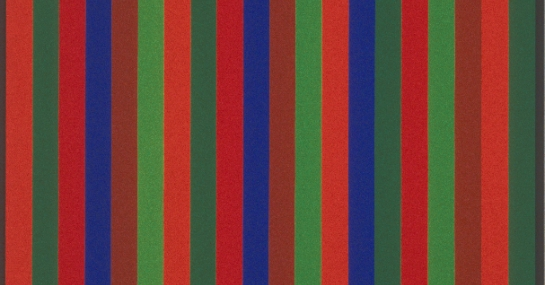 Bi-sériel Brun-Violet, 1966, acrylique sur toile, 173,3 cm x 102, Fondation Guido Molinari, © SODRAC Photo : Guy L'Heureux