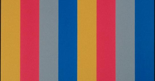 Sériel Ocre-Bleu, 1968, acrylique sur toile, 228,5 cm x 198, Fondation Guido Molinari, © SODRAC Photo : Guy L'Heureux