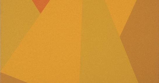 Triangulaire Ocre-Jaune, 1974, acrylique sur toile, 228,5 cm x 198, Fondation Guido Molinari, © SODRAC Photo : Guy L'Heureux