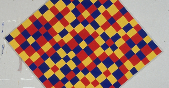 Yellow, Red and Blue Continuum, 1998, acrylique sur toile, 273 cm x 272, Fondation Guido Molinari, © SODRAC Photo : Guy L'Heureux