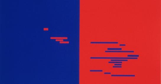Sans titre, 2003, acrylique sur toile, 91,6 cm x 135, coll. Fondation Guido Molinari, © SODRAC Photo : Guy L'Heureux